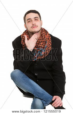 Young Casual Unshaved Man