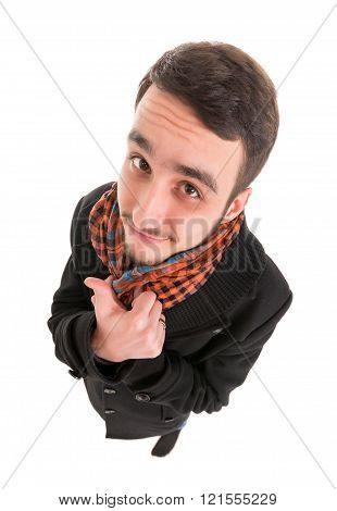 Young Man In Black Dress Show Thumb Up