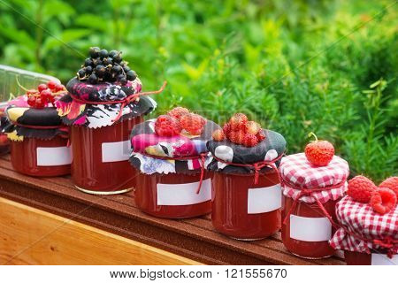 Jam Jars With Label