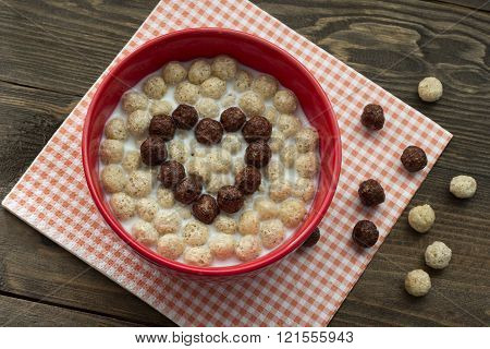 Heart Of Chocolatel Balls With Milk