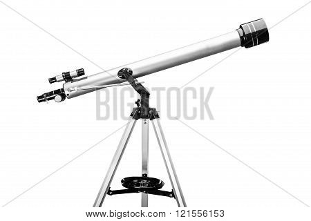 Telescope isolated on a white background