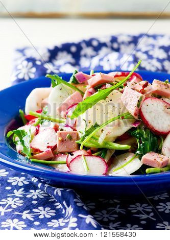 The Crackling Salad From Radish And Other Vegetables