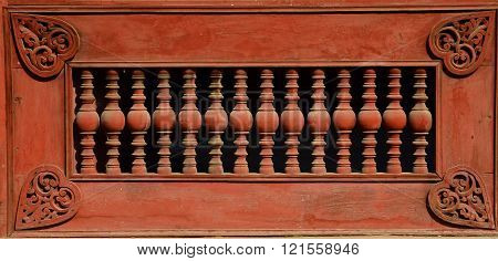 Wall in Royal Palace of Mandalay in Myanmar ** Note: Soft Focus at 100%, best at smaller sizes