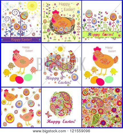 Easter wallpaper and greeting cards