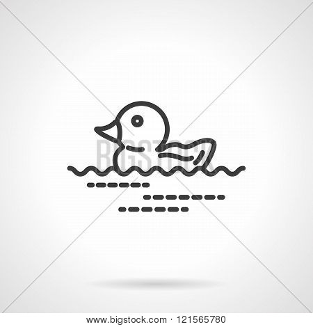 Rubber duck icon black line design vector icon