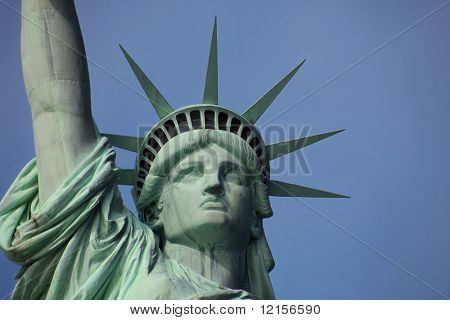 close up of Statue of Liberty, New York