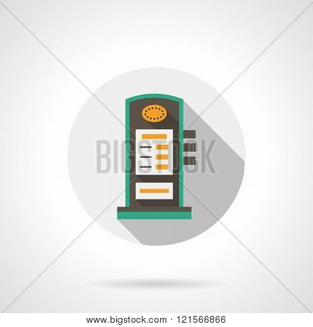 Charging station round flat color vector icon