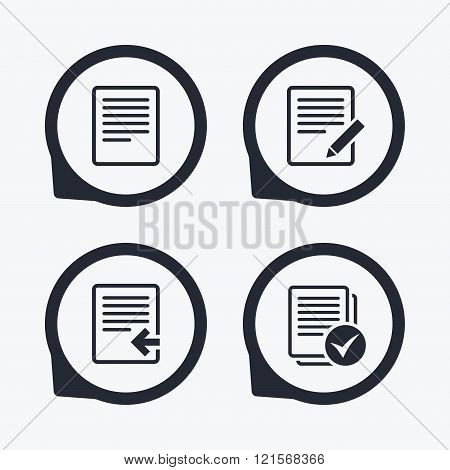 Document icons. Upload file and checkbox.
