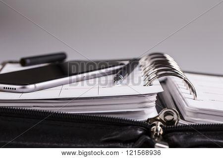 Planning Concept - Calendar, Cellphone, Pen