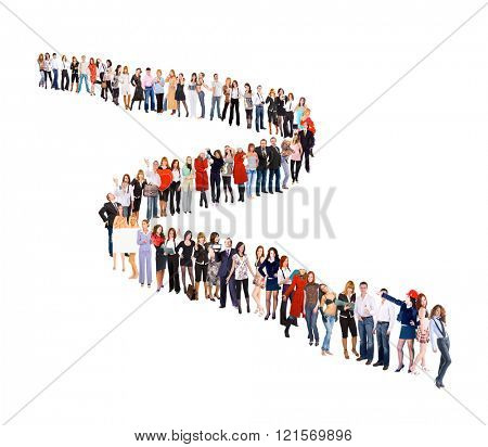 People in Queue Together we Stand