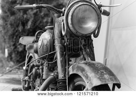 Photoshoot Of vintage Nsu Osl 251 From 1951 Motorcycle