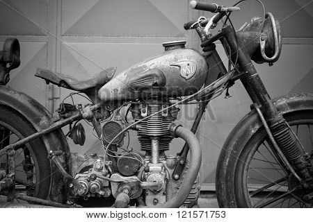 Photoshoot Of Nsu Osl 251 From 1951 Motorcycle