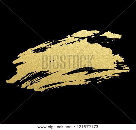Gold acrylic paint. Vector illustration
