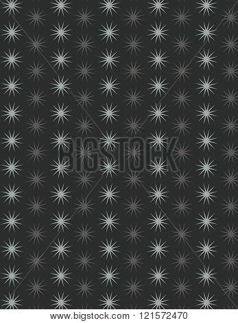 Gray star pattern over black color background