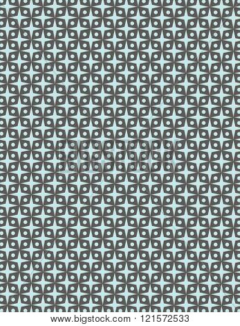 Gray circle pattern over blue color background