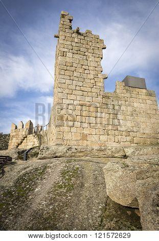 ruins of the old castle, Castelo Novo, Fundão, Portugal