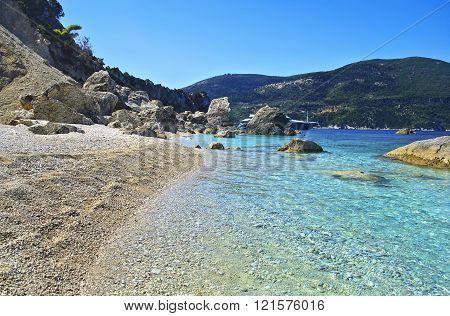 beach in Ithaca island Greece