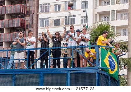 Brazilians Protest Against Government and President