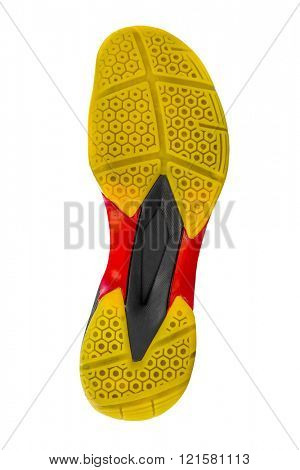 Bottom of sport shoe isolated on white background