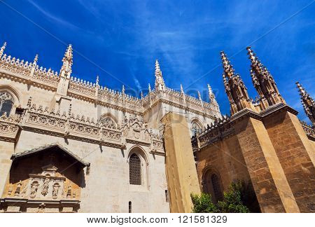 Royal Chapel in Granada Spain - religion background