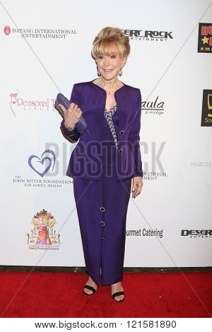 LOS ANGELES - FEB 28:  Barbara Eden at the Style Hollywood Viewing Party 2016 at the Hollywood Museum on February 28, 2016 in Los Angeles, CA