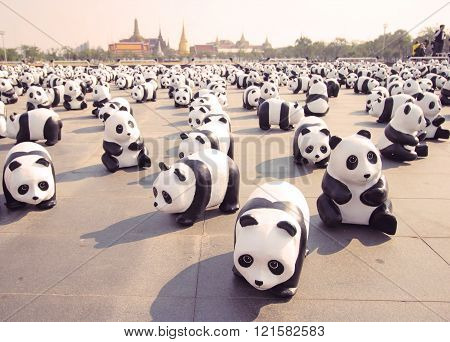 1600 Pandas+ Th, Paper Mache Pandas To Represent 1,600 Pandas