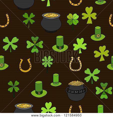 Saint Patrick's Day Vector Seamless