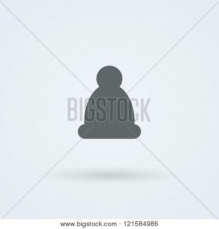 Logo hat. Laconic headdress. Icon.