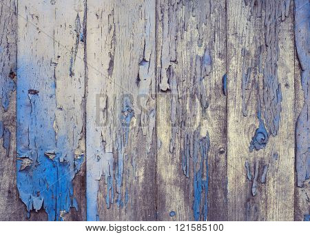 Old Wood and Faint Paint Background