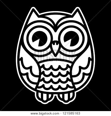 Owl vector icon