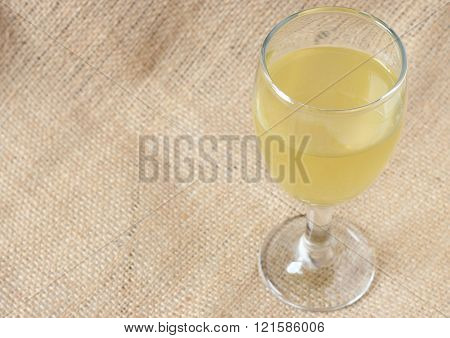 Healthy background with herbal drinks, Lemon grass water.