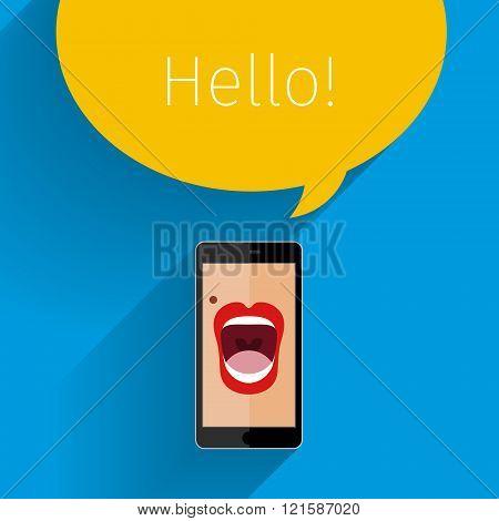 Phone speak concept.