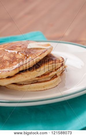 Stack Of Home Made Pancakes