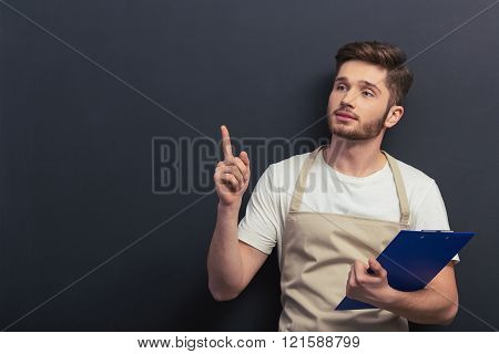 Handsome Young Worker