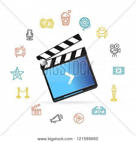 Cinema Concept. Vector