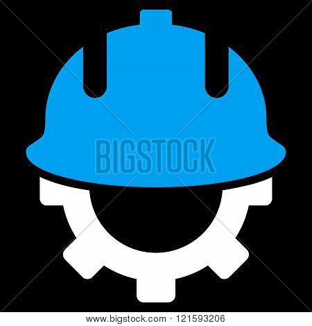 Development Helmet Flat Vector Symbol