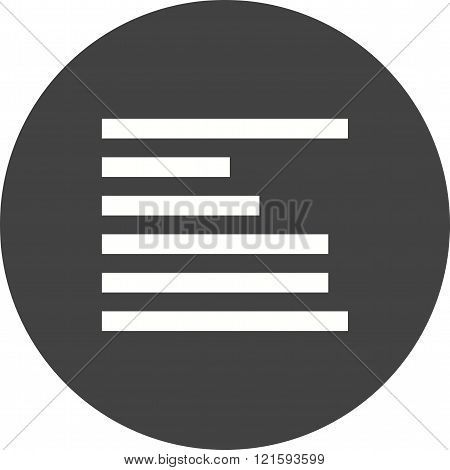 Left, align, text icon vector image. Can also be used for text editing. Suitable for mobile apps, web apps and print media.