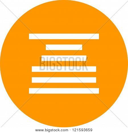 Center, align, text icon vector image. Can also be used for text editing. Suitable for mobile apps, web apps and print media.