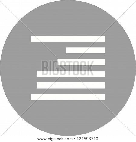Right, align, text icon vector image. Can also be used for text editing. Suitable for mobile apps, web apps and print media.