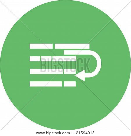 Wrap, bold, text icon vector image.Can also be used for text editing. Suitable for mobile apps, web apps and print media.