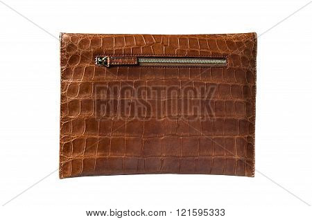 leather bag for Pad, hide, skin in brown colour