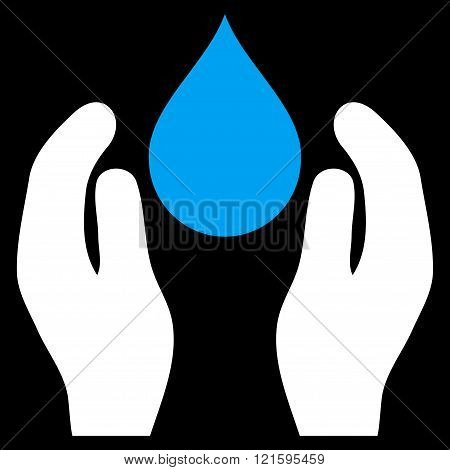 Water Care Flat Vector Symbol