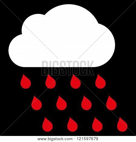 Rain Cloud Flat Vector Symbol