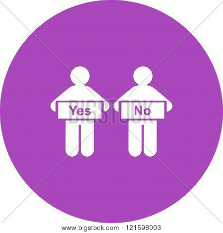 Decision, making, person icon vector image. Can also be used for humans. Suitable for use on web apps, mobile apps and print media.
