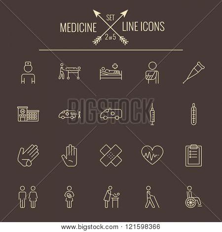 Medicine icon set.
