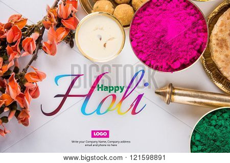 Happy holi greeting card holi food and colours poster id121598891 happy holi greeting card holi food and colours poster m4hsunfo