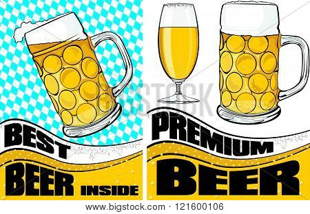 beer mug and glass