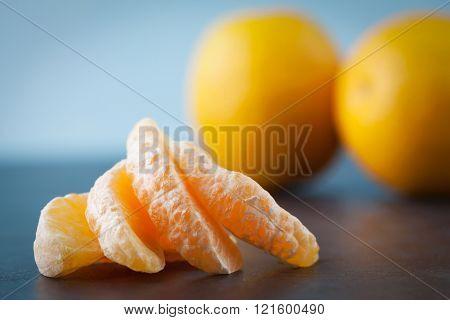 Four Slices Of Orange