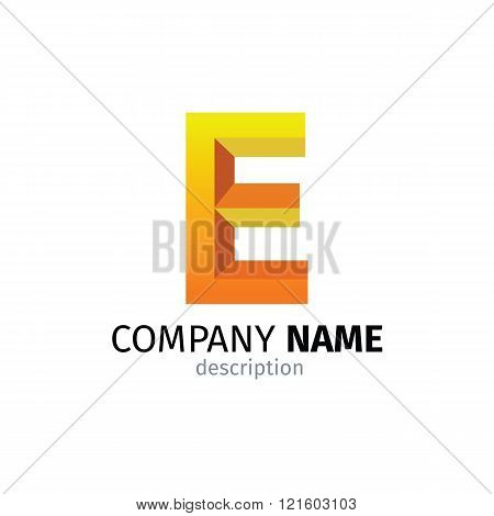 Letter E logo icon design template elements