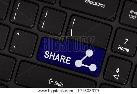 Blue Share Button